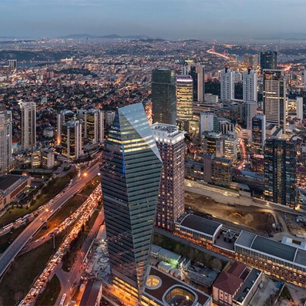 Soyak Crystal Tower der QNB Finansbank, Istanbul